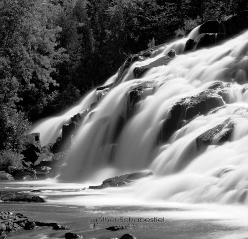 Bond Falls in Michigans Upper Peninsula 120 6x6 Black and White Film