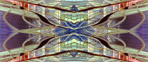 Multiple images abstract created from several images.120 6x9 Color Film with digital enhancements