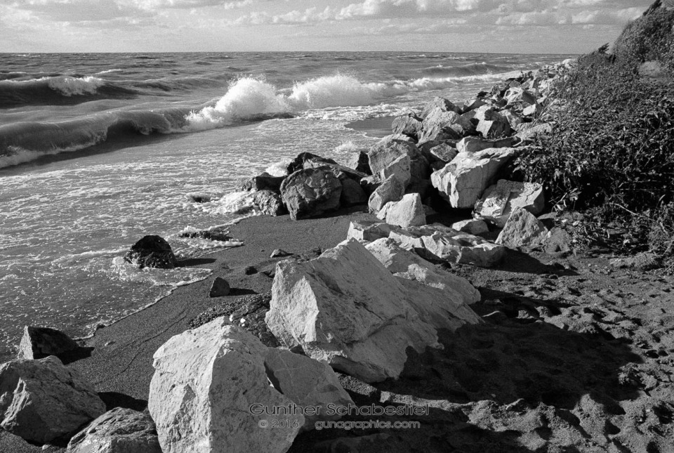 Rocks and Surf, Point Pelee National Park, Canada